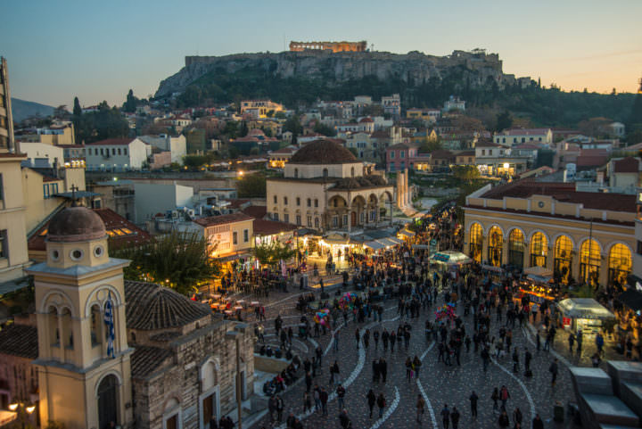 exploring the plaka historical neighborhood in athens