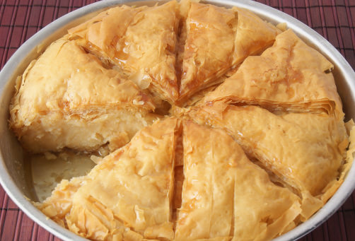 Greek dessert recipes recipe for galaktoboureko greek custard pie forumfinder Gallery