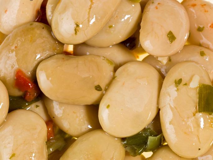 Lima Bean Beet Salad with Smoked Herring