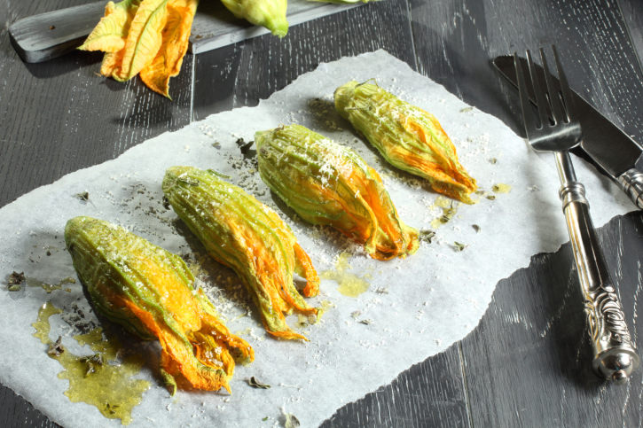 zucchini flower stuffed