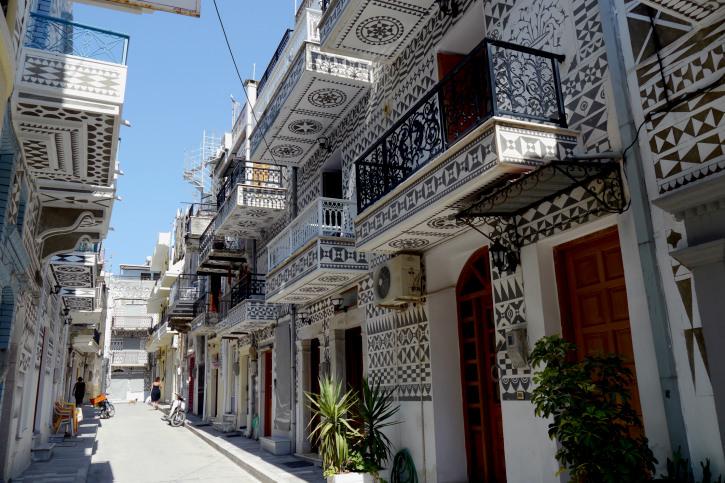 Greek Village of Pyrgi, on Chios