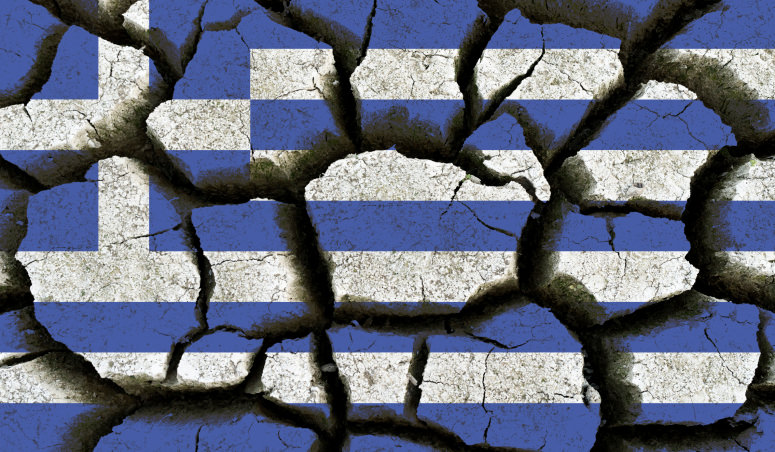 Broken Greece in World War II