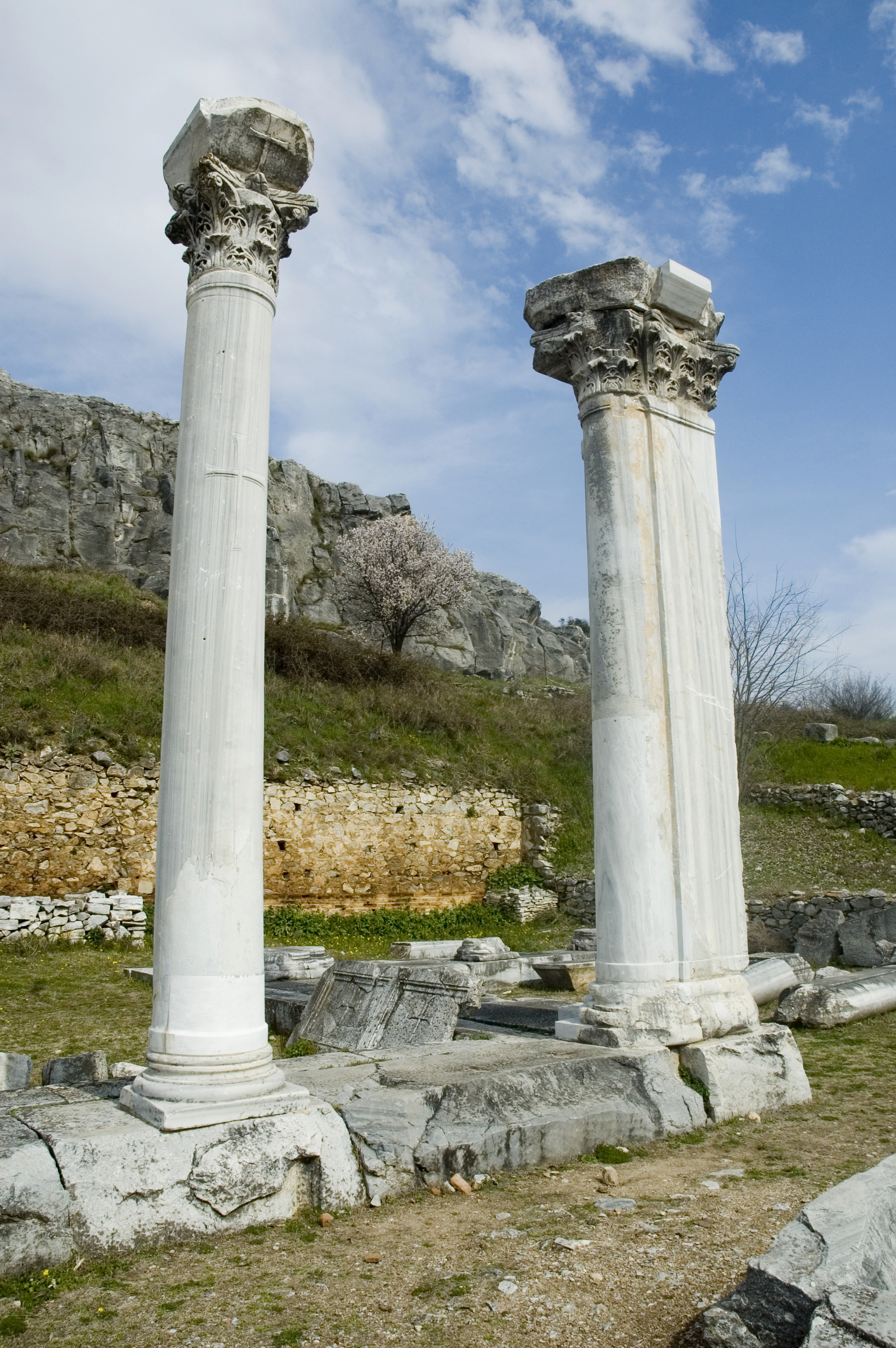 Columns of Ancient Philippi, Greece