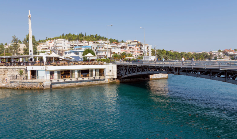 Bridge of Khalkis Euboea (Evia) Greece