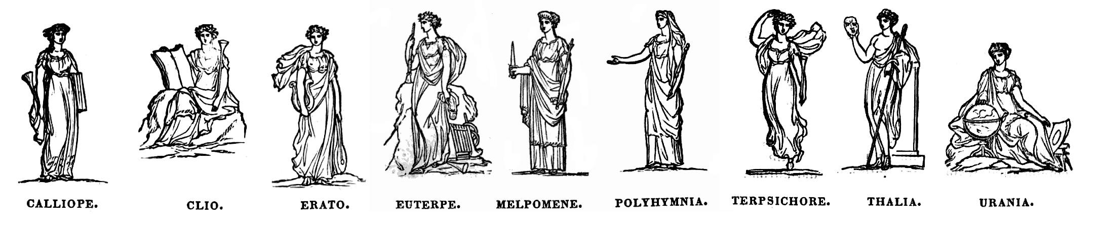 Nine Muses - Samuel Griswold Goodrich (1832)