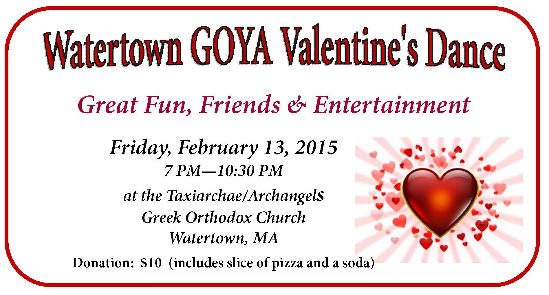 ... GOYA Valentine's Dance at Taxiarchae/Aarchangels Greek Church