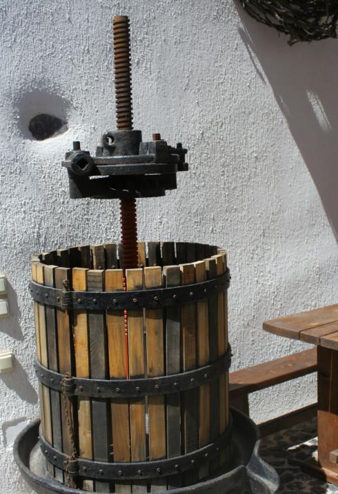 Antique Wine Press in Santorini, Greece