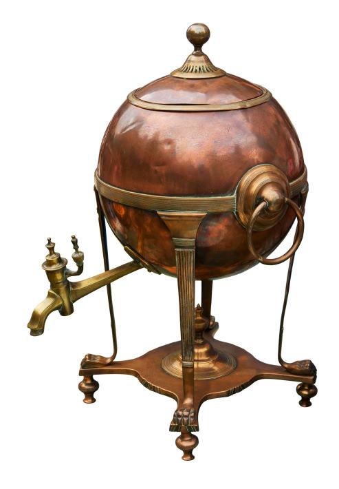 Old brass boiler