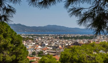 View of the City Kalamata, Peloponnese, Greece