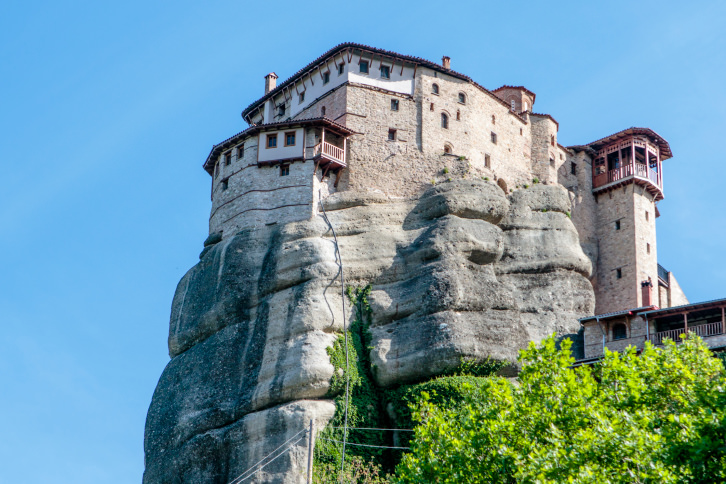 Roussanou nunnery in Meteora in Central Greece