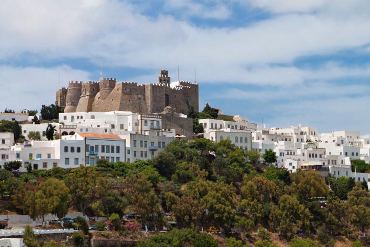 Patmos island in Greece. St. John the Evangelist monastery