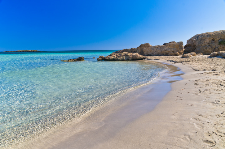 Detail of Elafonisi beach, island of Crete
