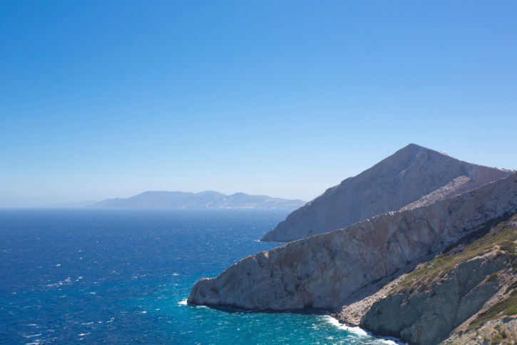 Beautiful view of the shoreline, Folegandros