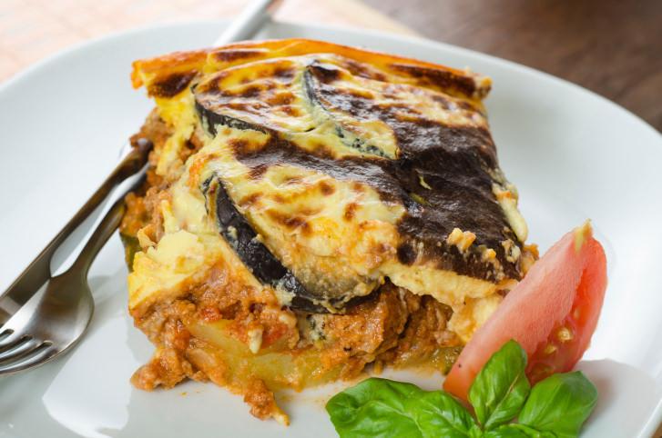 Dish of moussaka