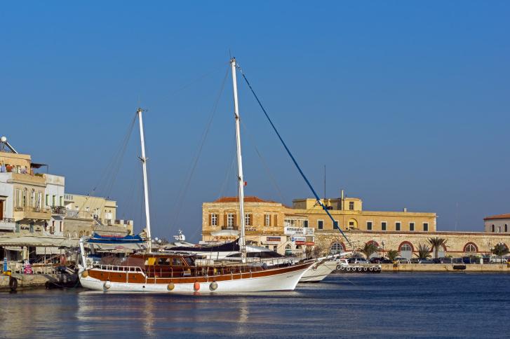 Port of Ermoupoli, Syros Island