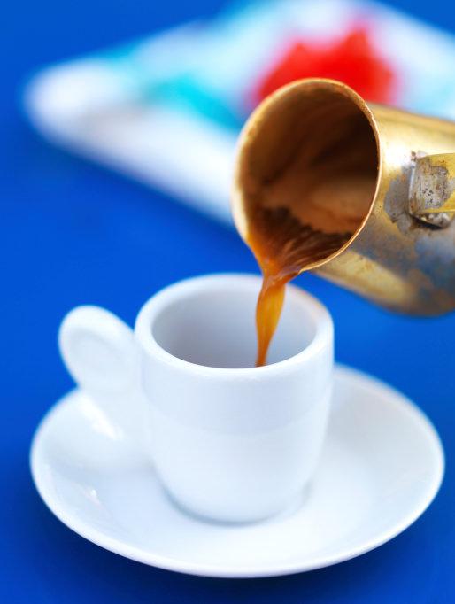 serving greek coffee