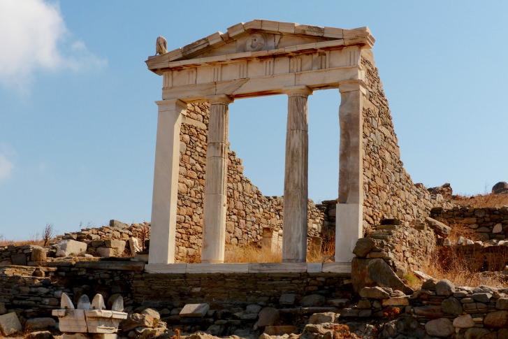 Delos, Temple d'Isis, archéologie