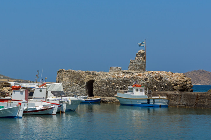 Venetian fortress in Naousa town, Paros island