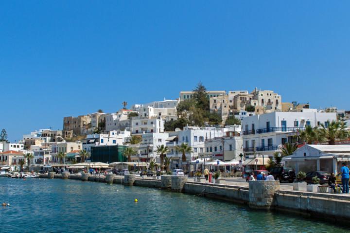 Embankment in Naxos island