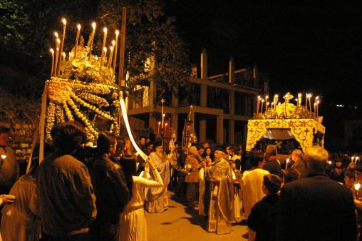 Greek Easter in the island of Skopelos in Greece