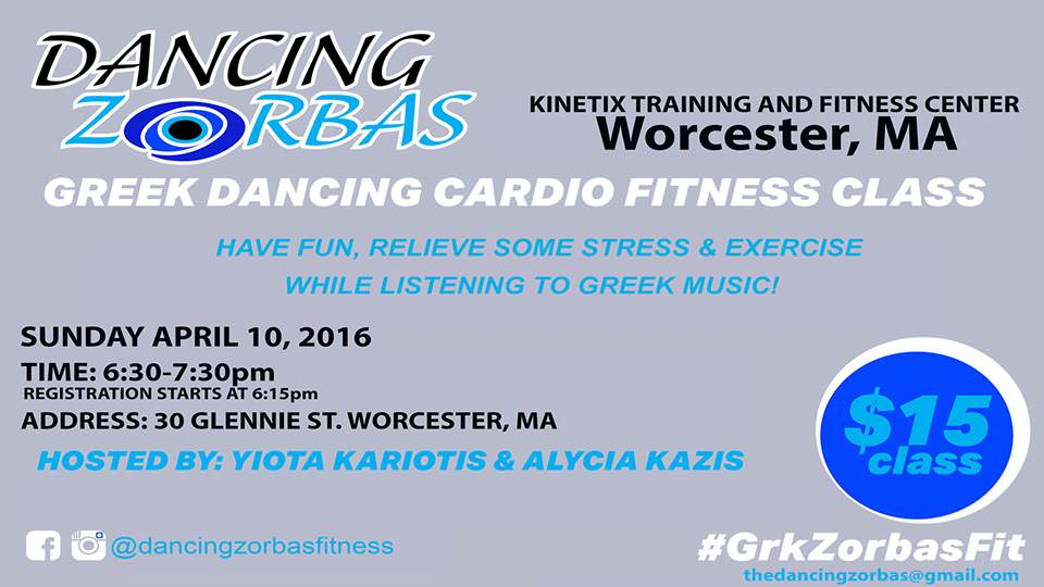 Dancing Zorbas Cardio Fitness Class in Worcester MA