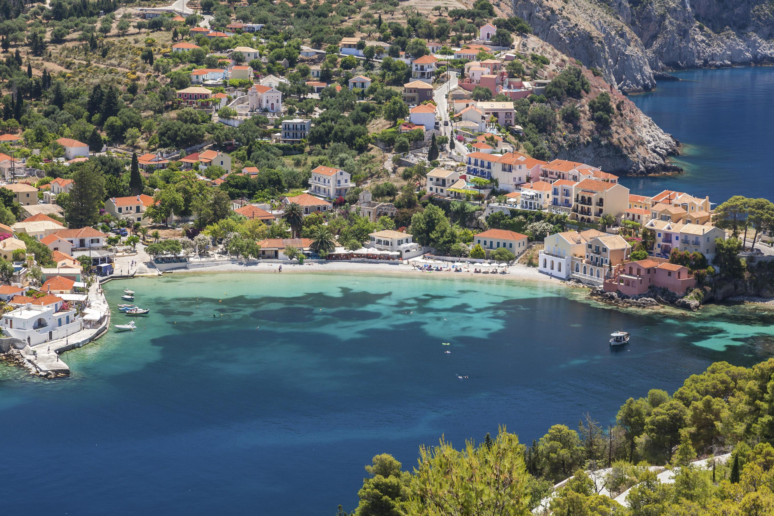 The small resort of Assos on Kefalonia