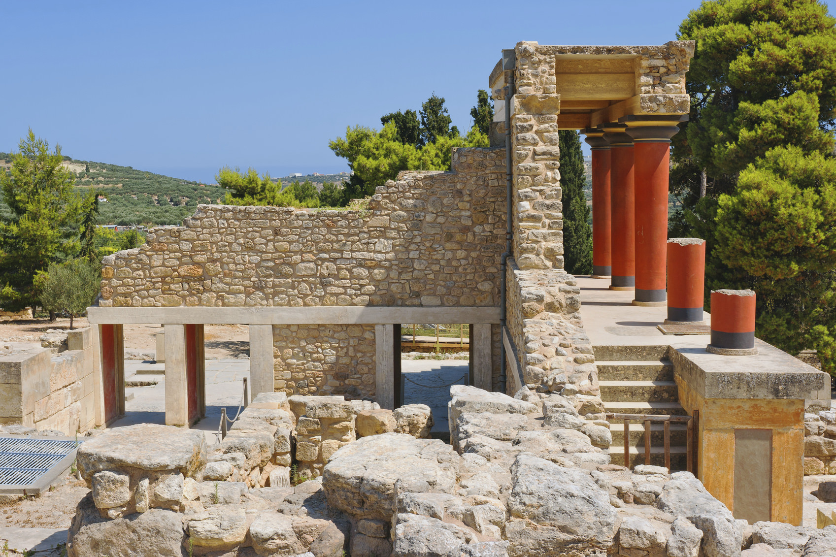 North Entrance of Knossos palace. Crete, Greece