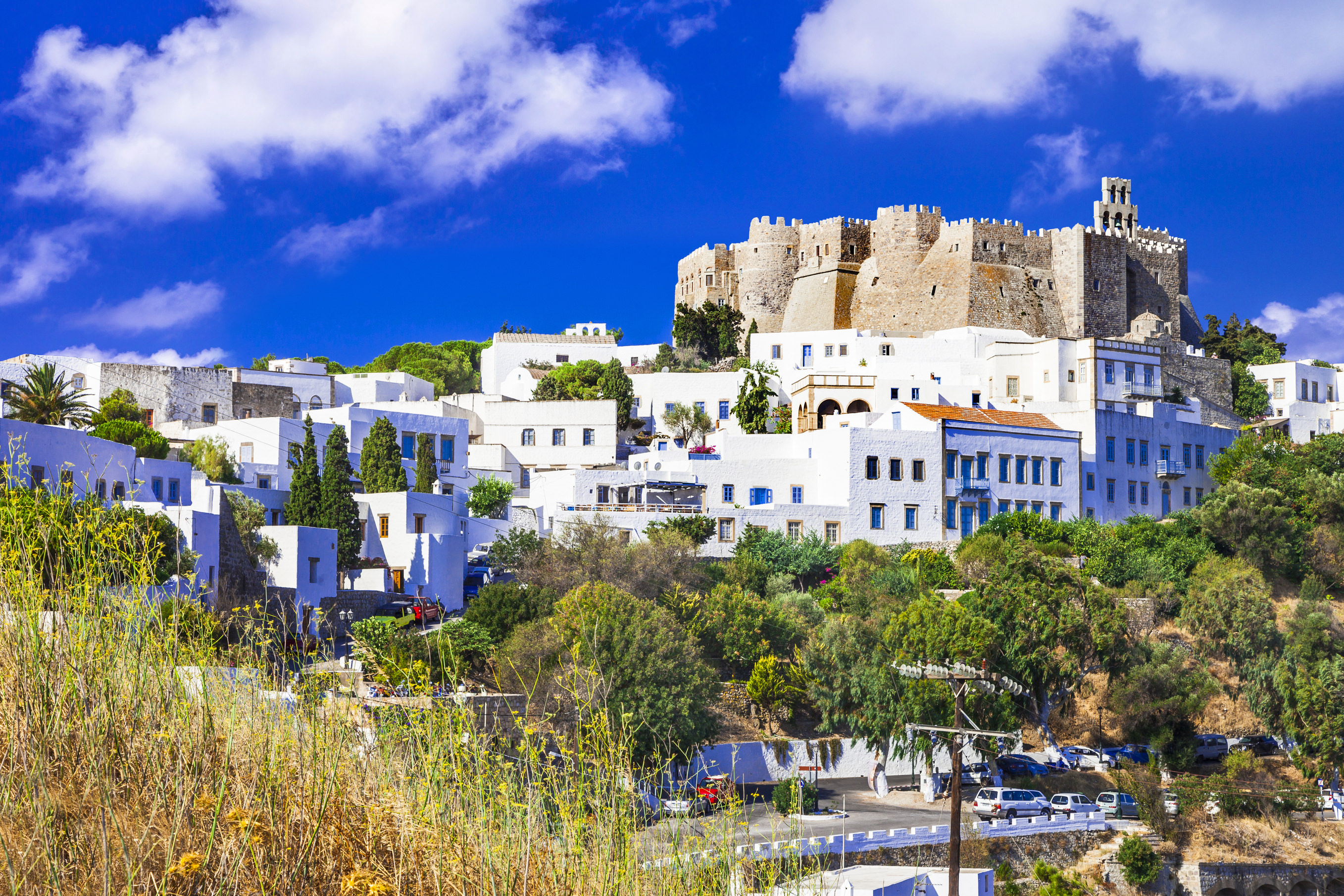 View of Monastery of st. John in Patmos