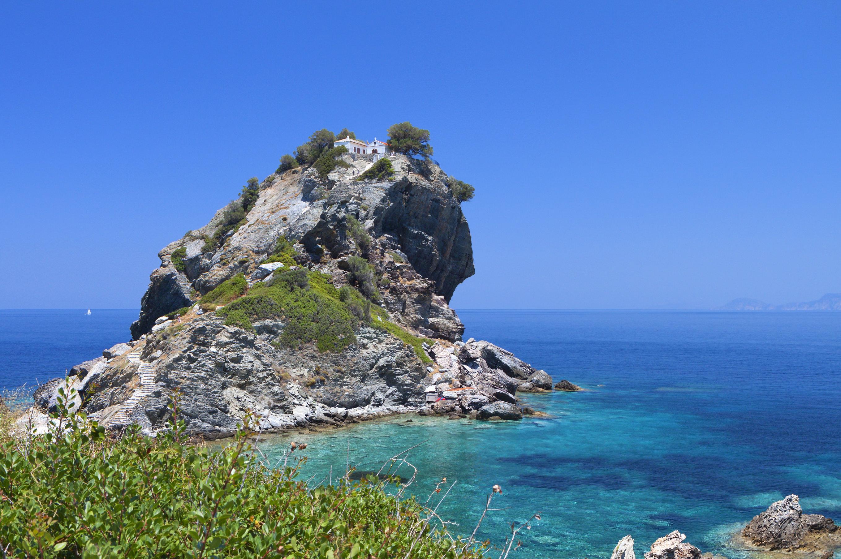 Agios Ioannis chapel at Skopelos island in Greece
