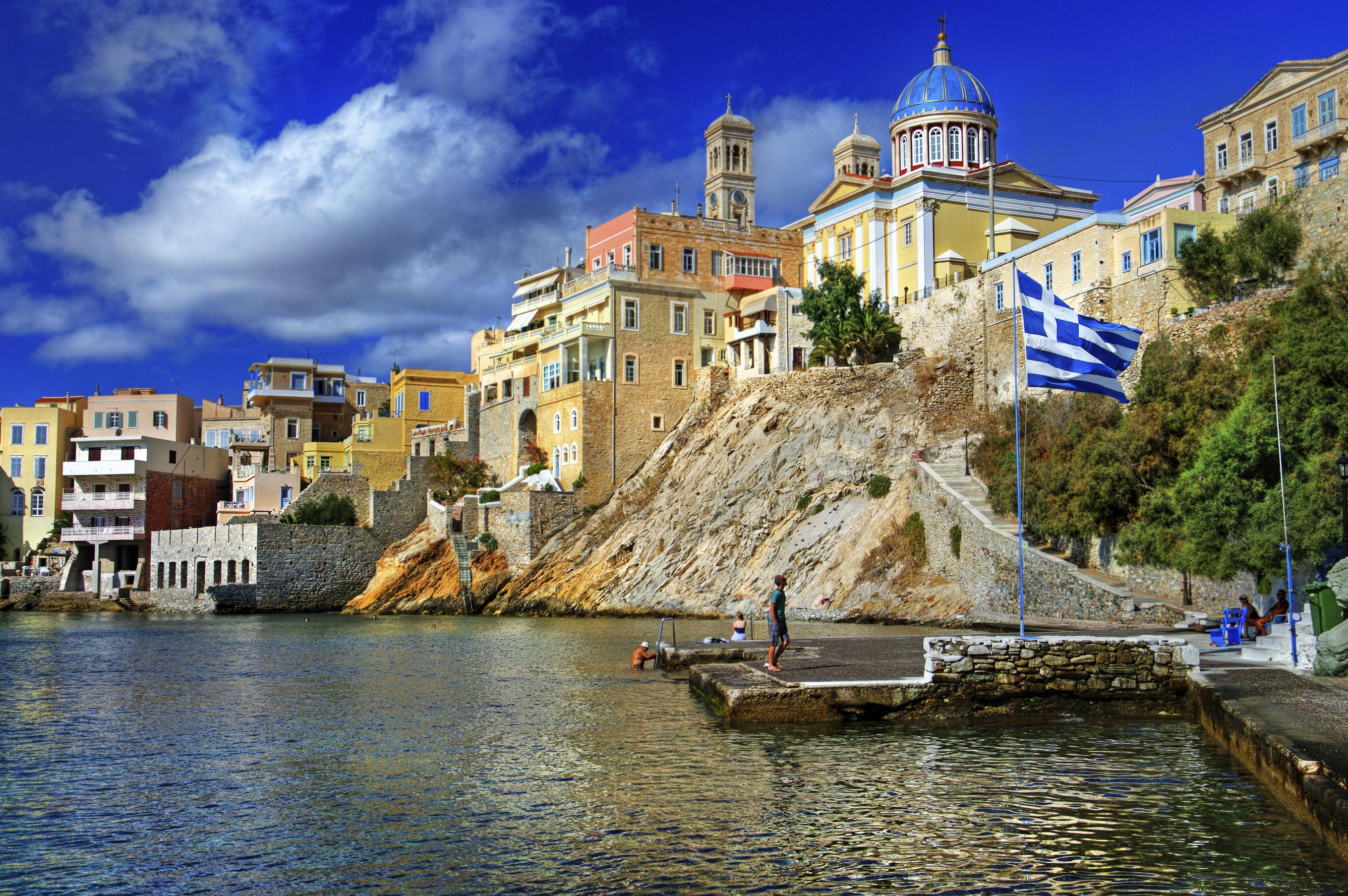 view of beautiful Ermoupoli town