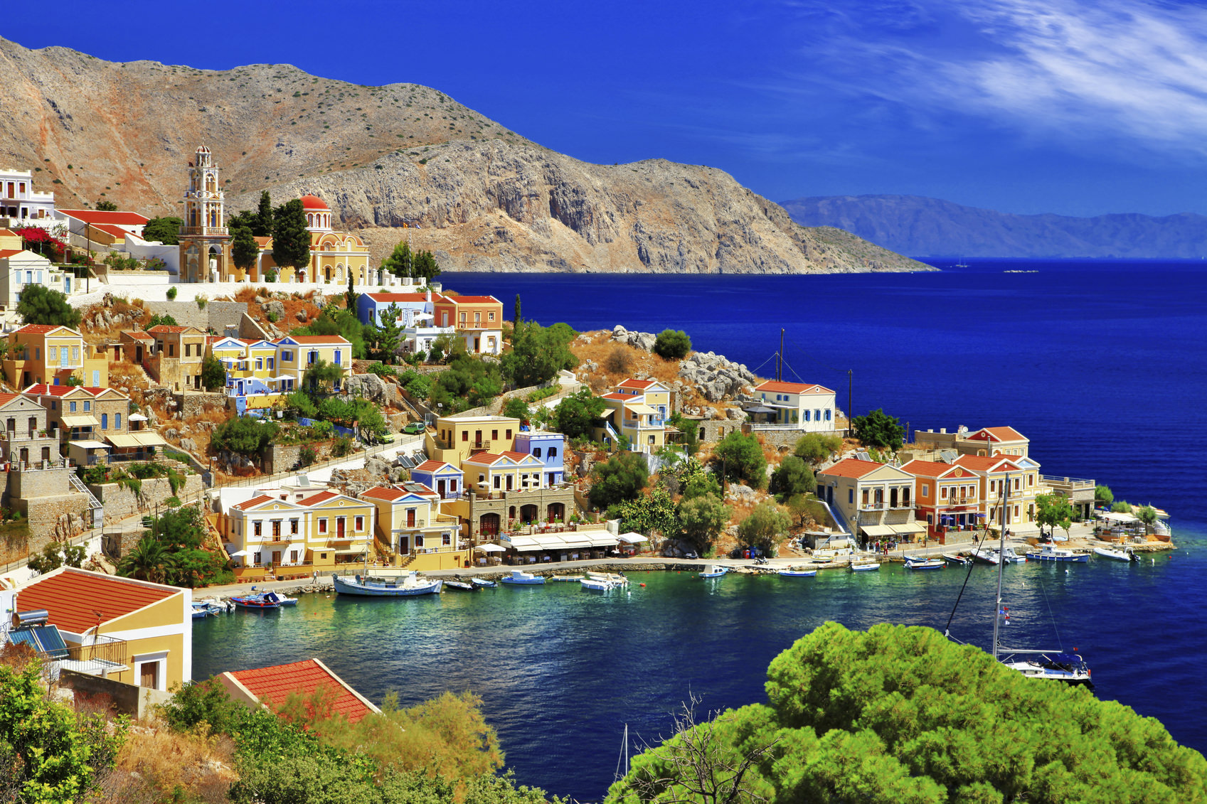 View of Symi island,