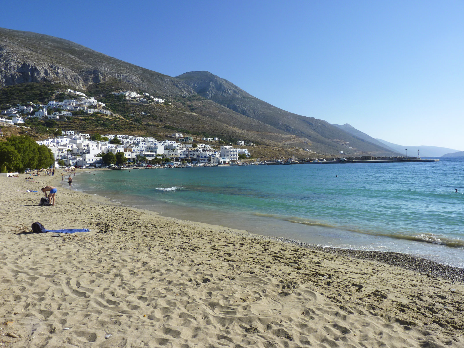 Beautiful old traditional Aigiali village in Amorgos island, Cyclades, Greece