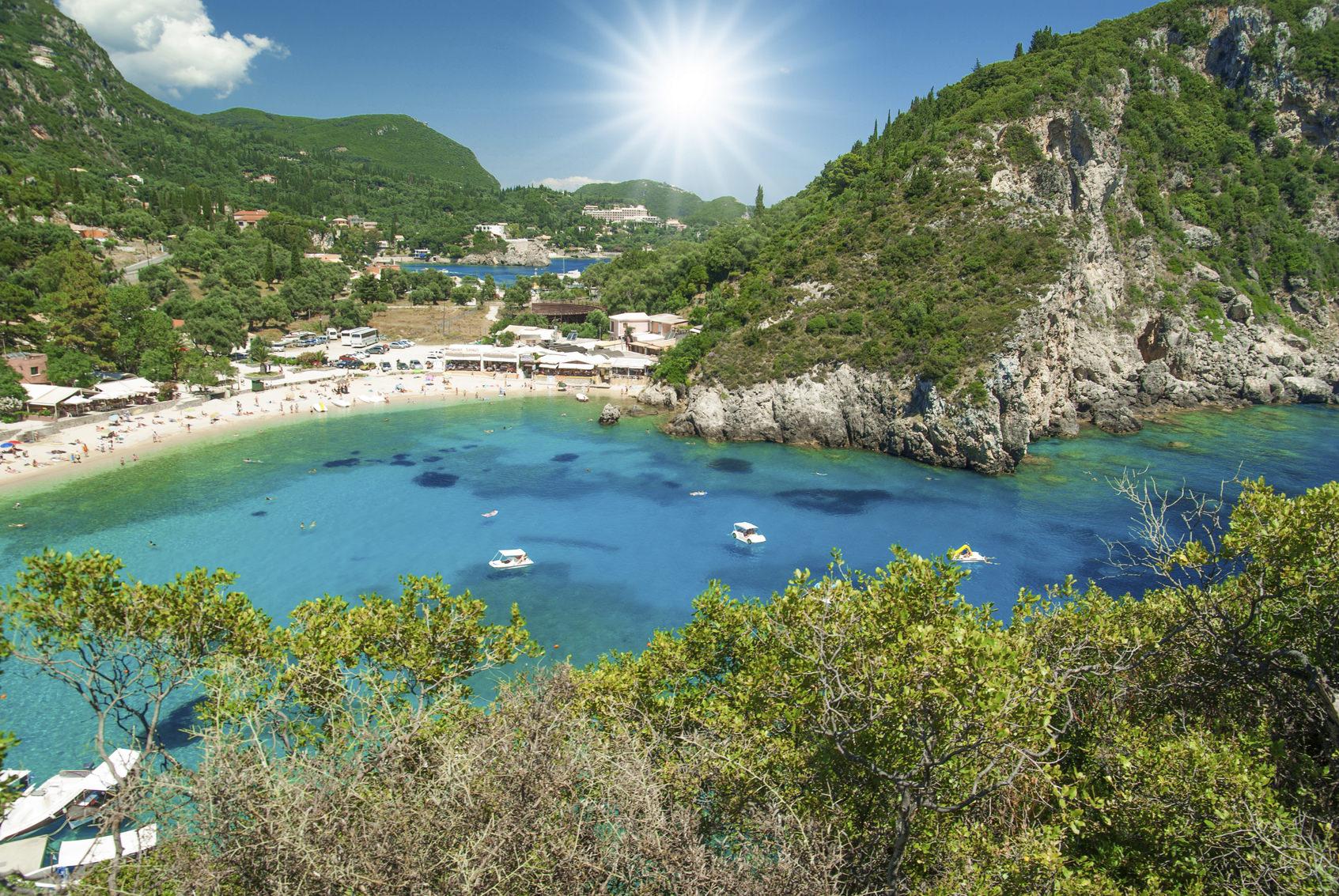 Amazing beach Greece Corfu