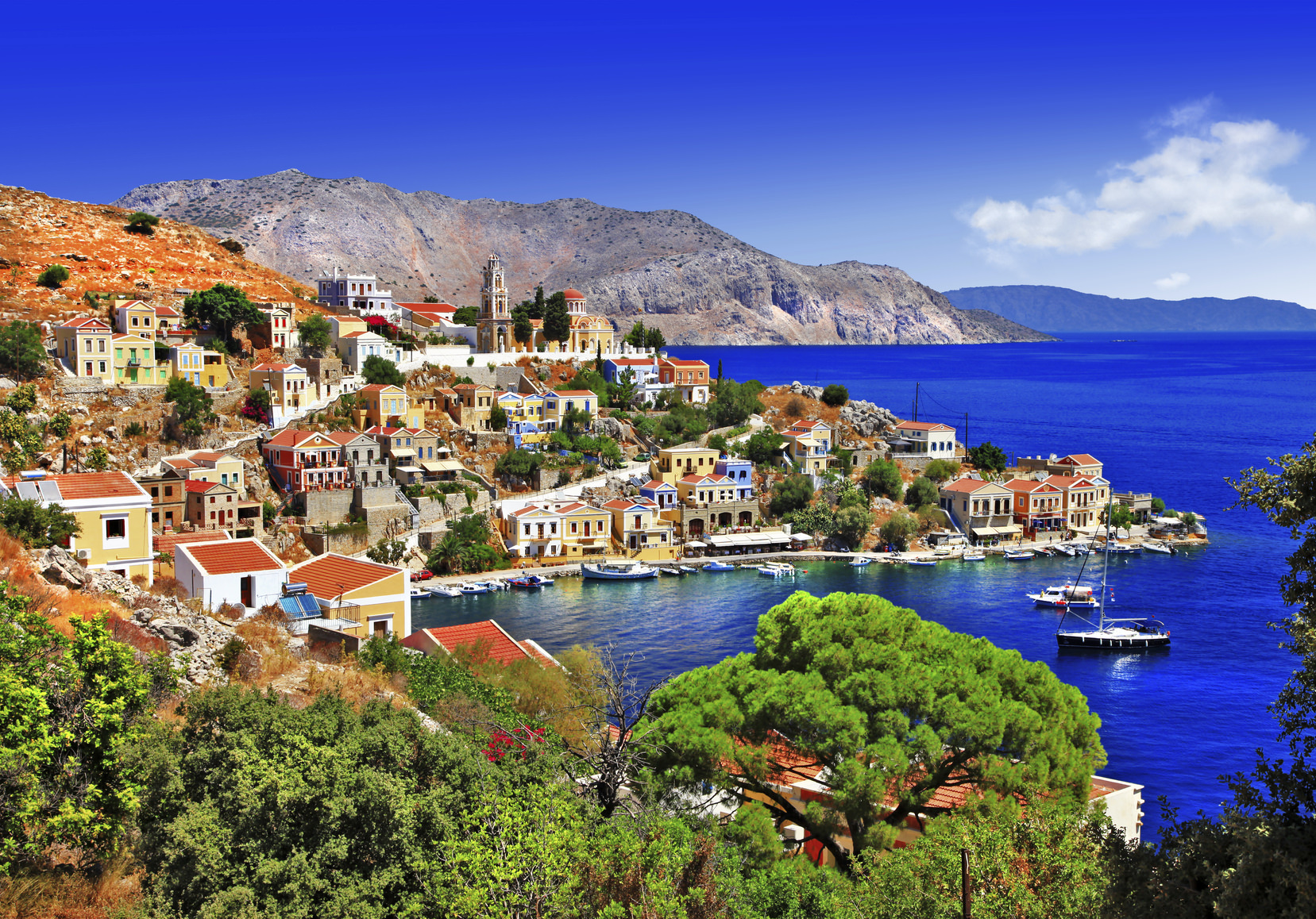Beautiful Greek island,