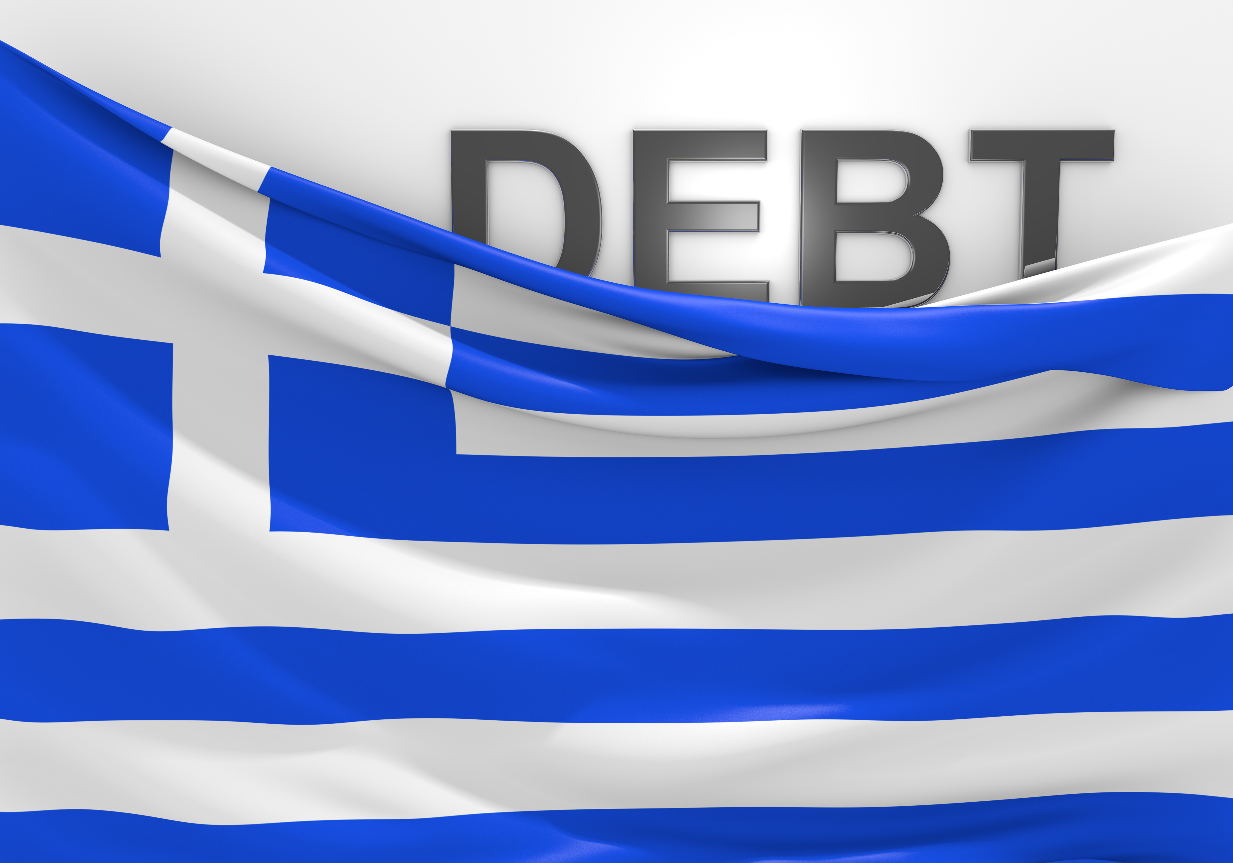 Conceptual image for talking points related to the Greece national debt crisis and bailout.