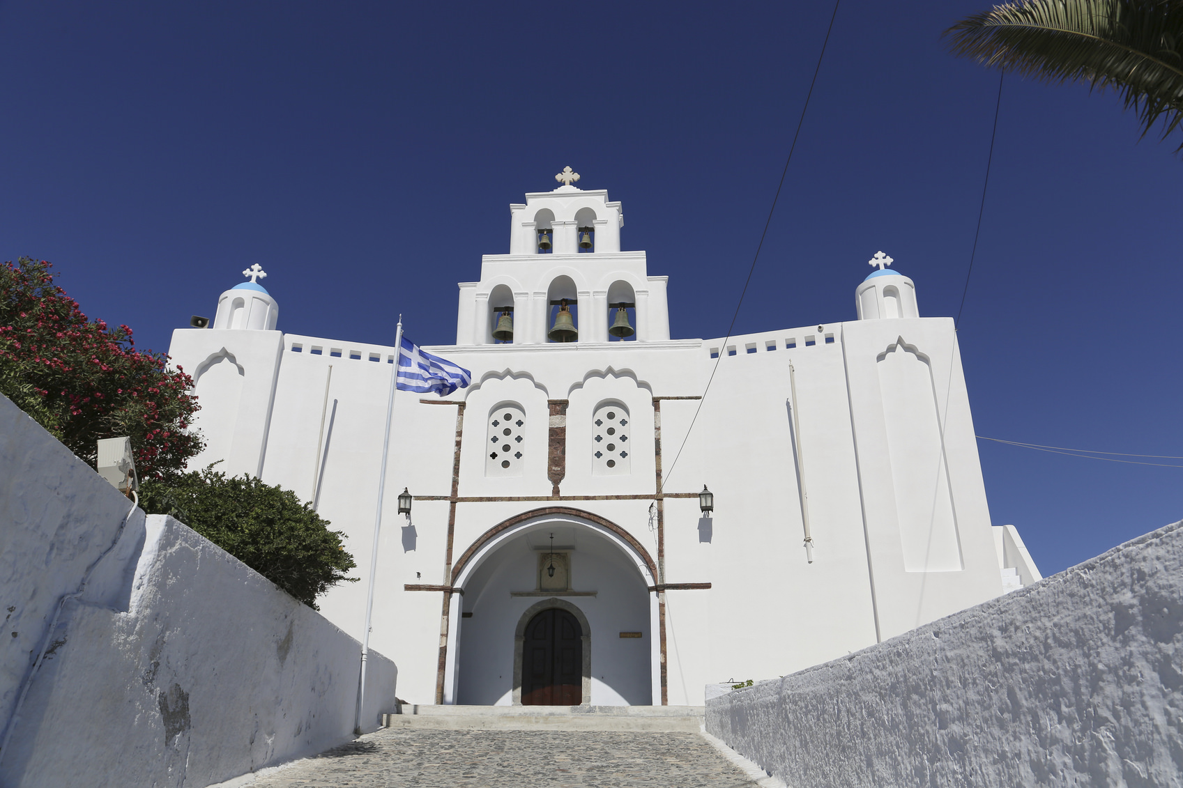 Church of Pyrgos Kallistis, Santorini island, Greece
