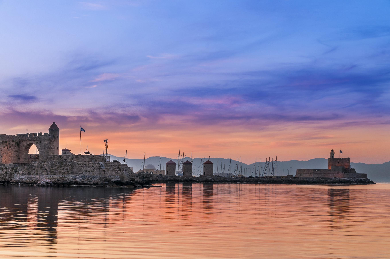 Tourist port of Rhodes island