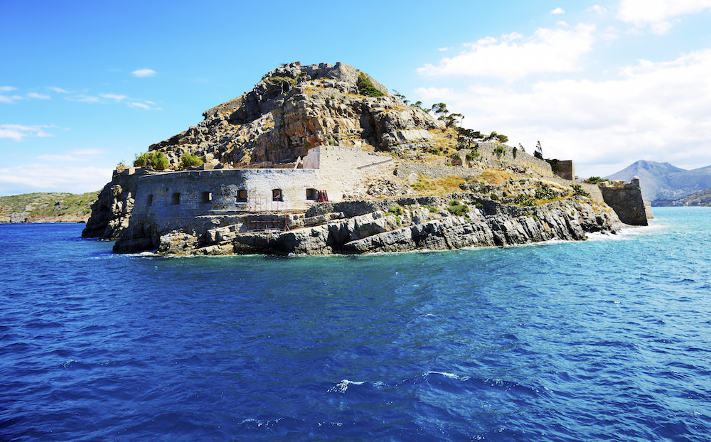 The fortress on Spinalonga Island, Crete, Greece