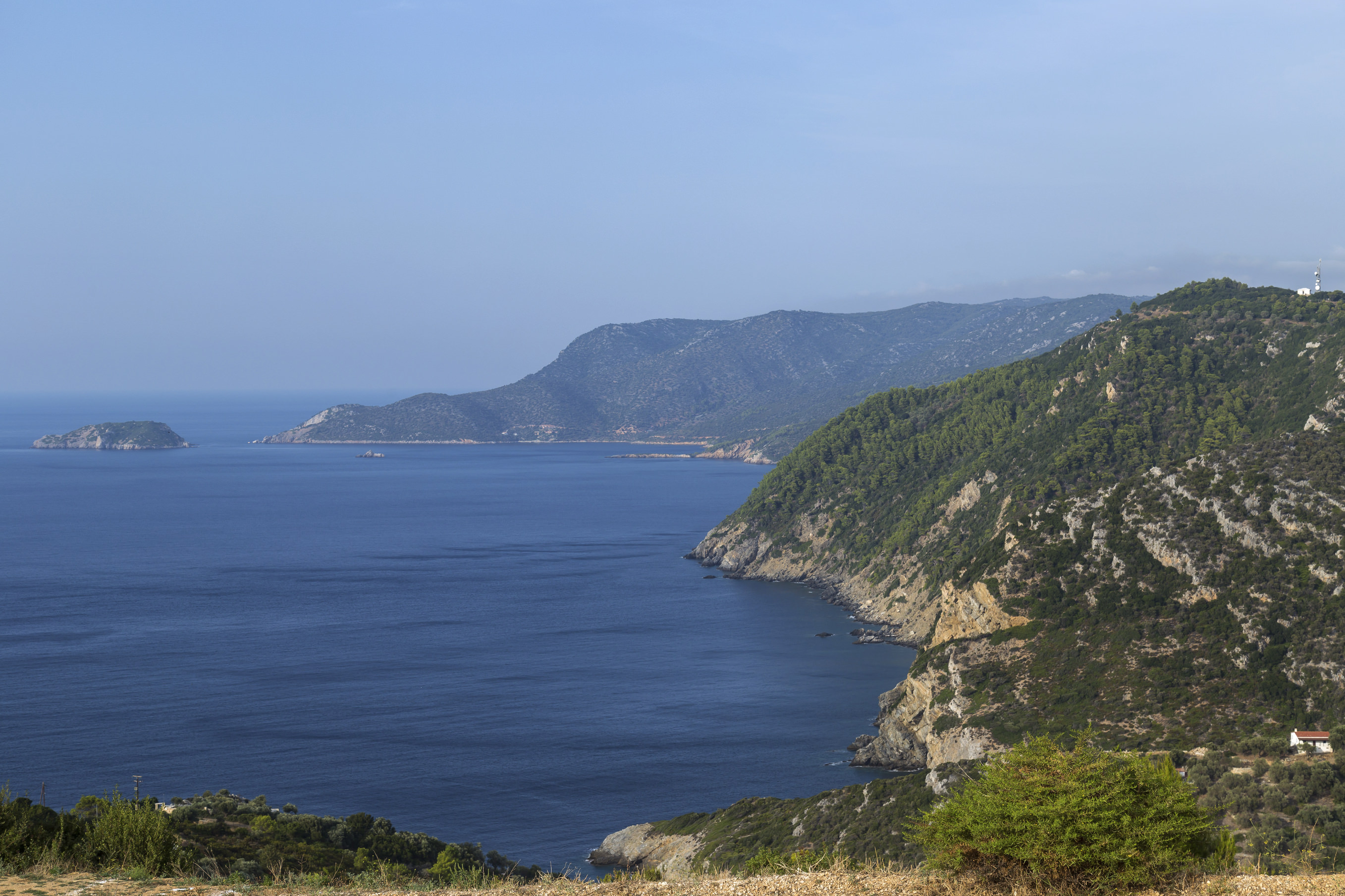 View from the old village (Chora) of Alonissos island, Northern Sporades, Aegean sea, Greece, Europe