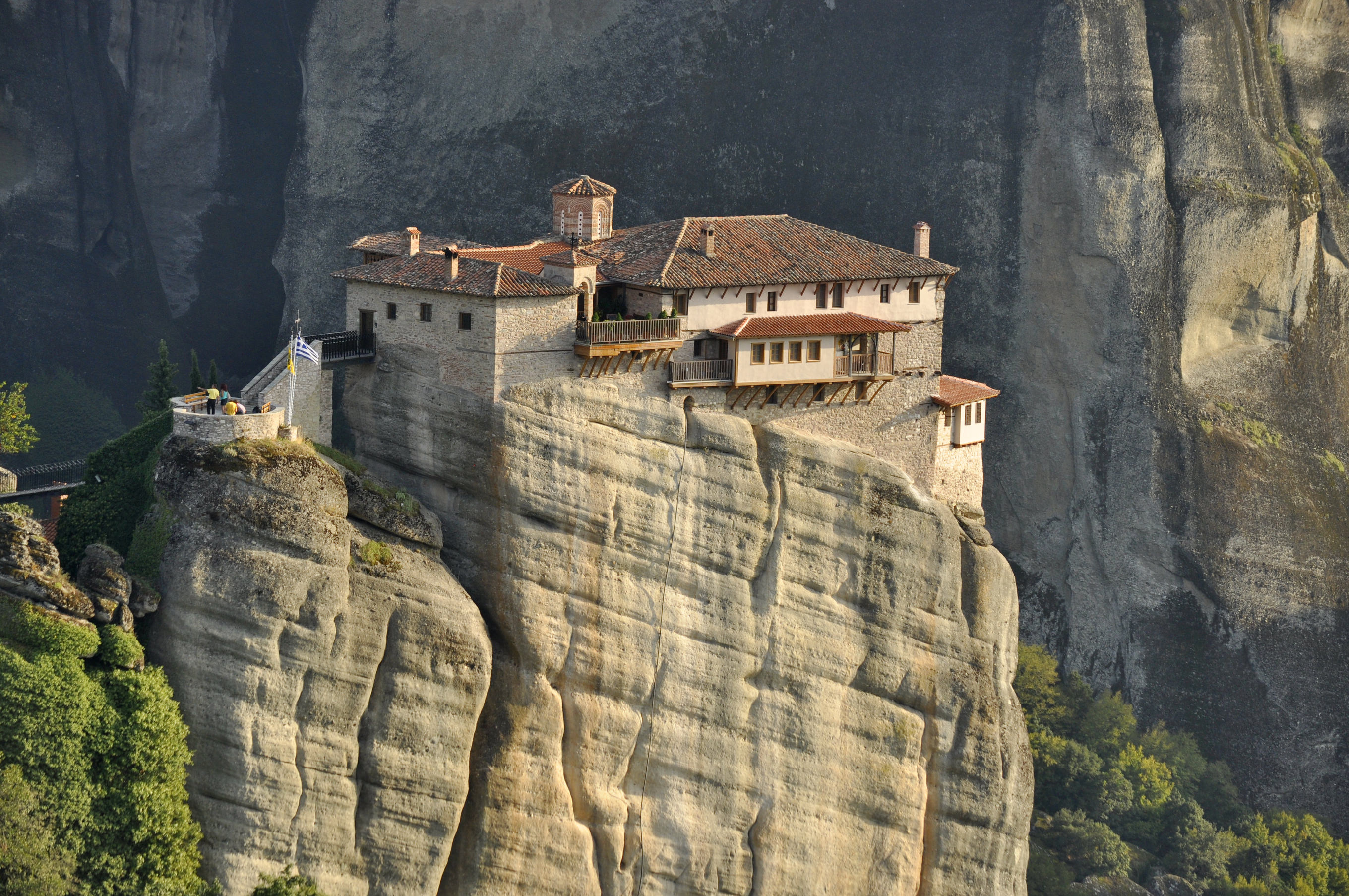 View of Rousano monastery at Meteora.