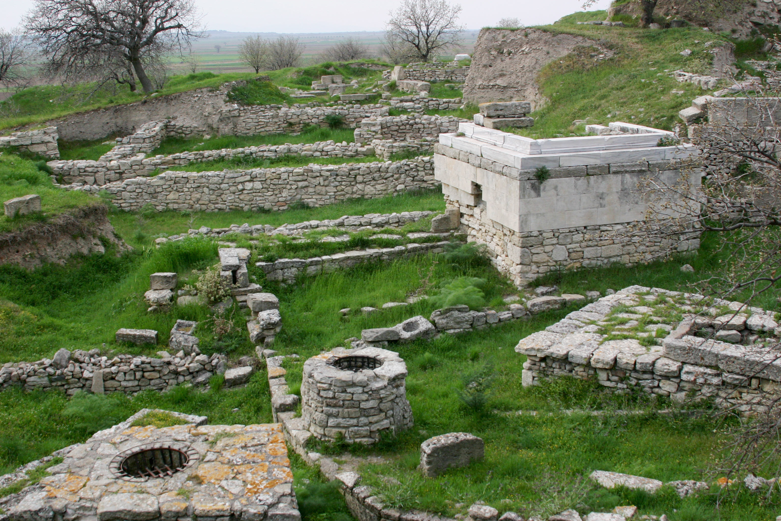 The UNESCO World Heritage Site at Troy in Turkey