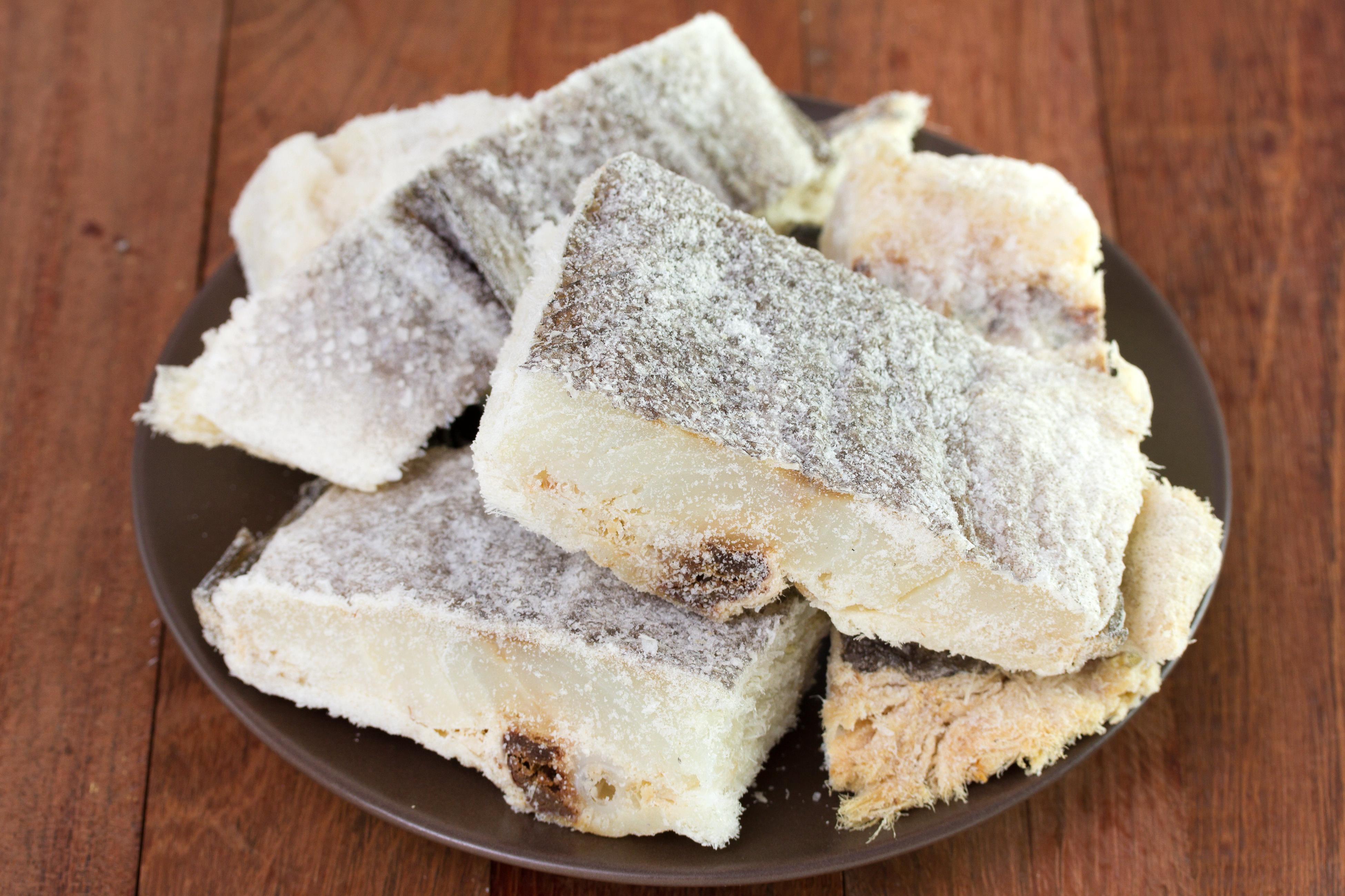 Salted fish is a traditional greek food for Saltwater fish food