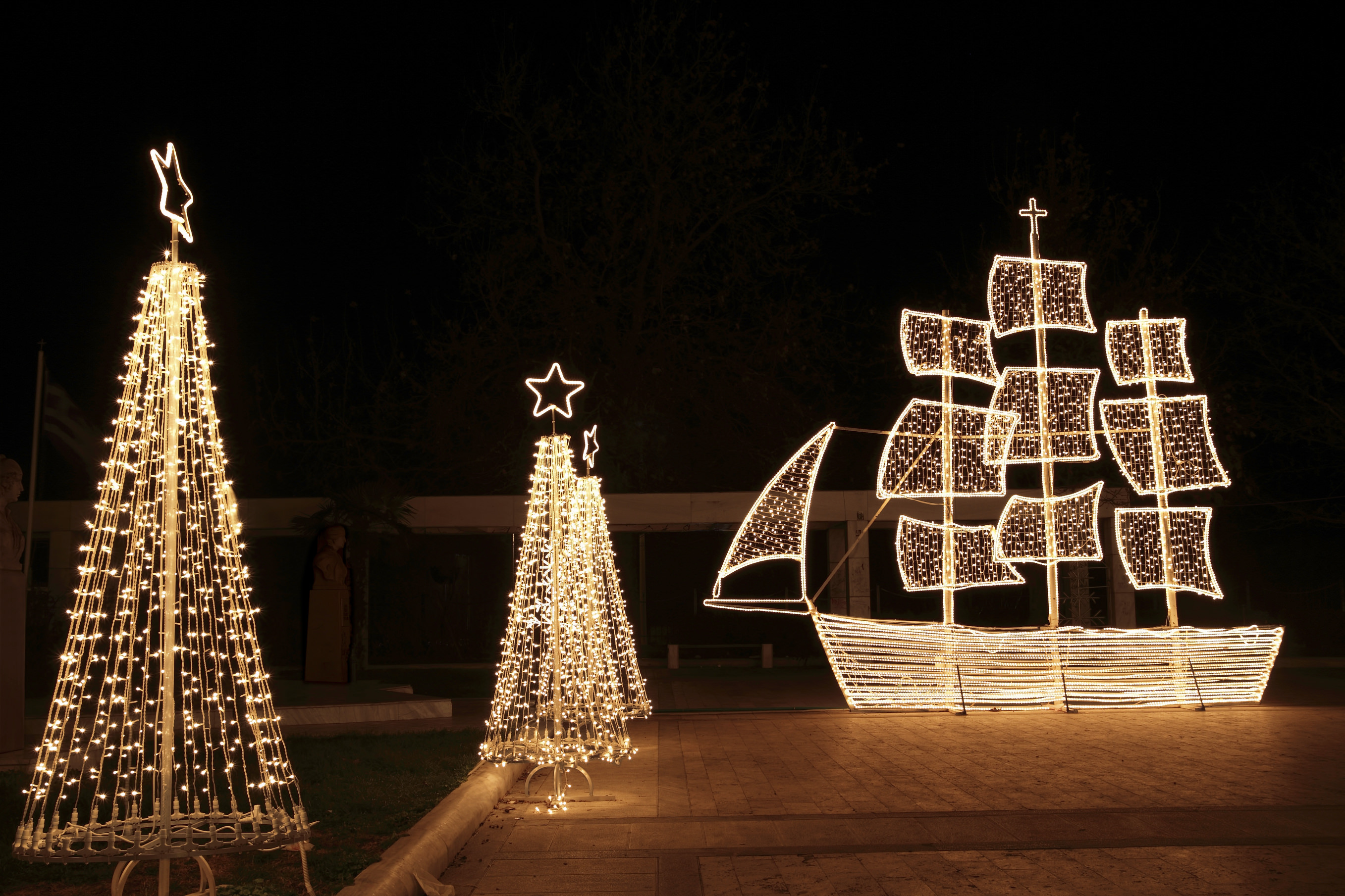 Christmas Tree And Boat