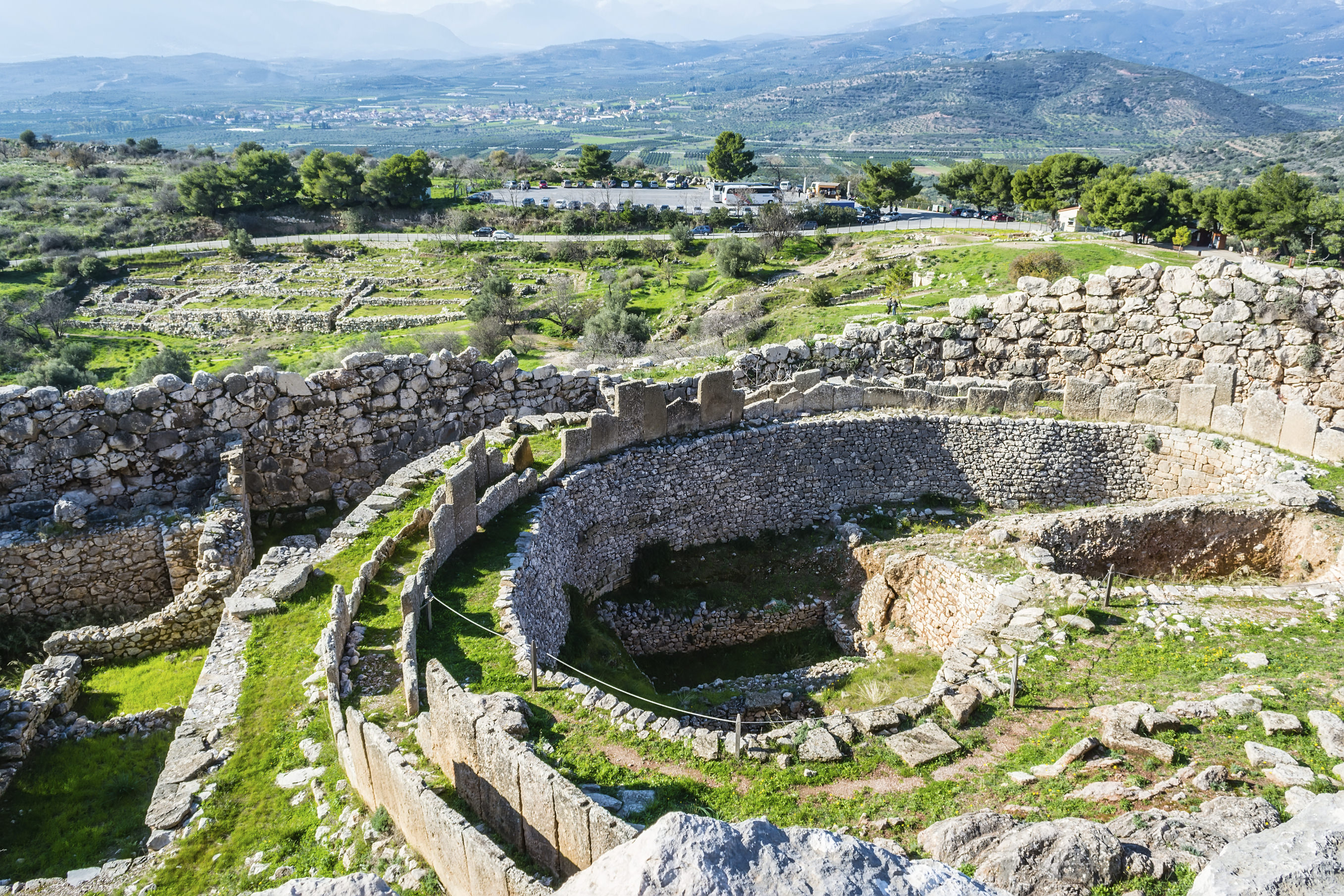 A photo of Mycenae, archaeological place at Greece