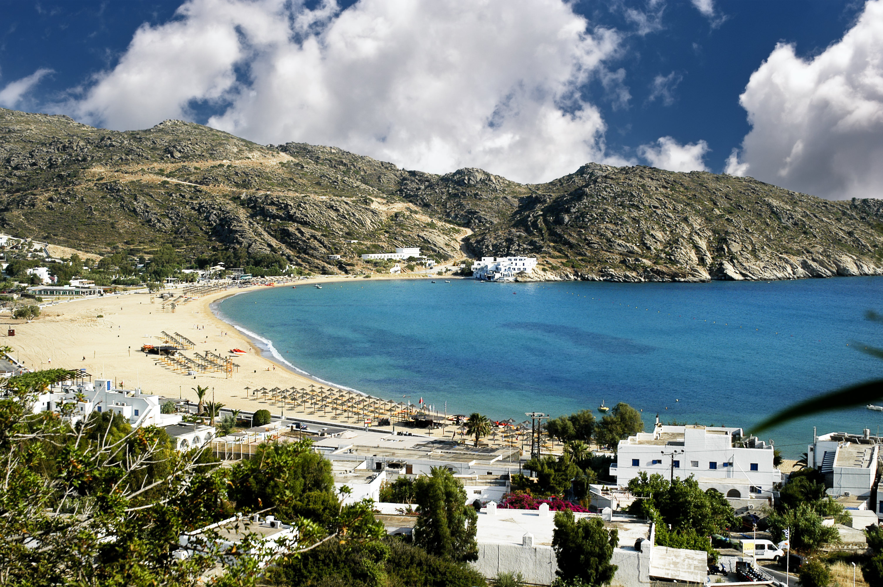 Mylopotas beach, Ios island, Cyclades, Greece