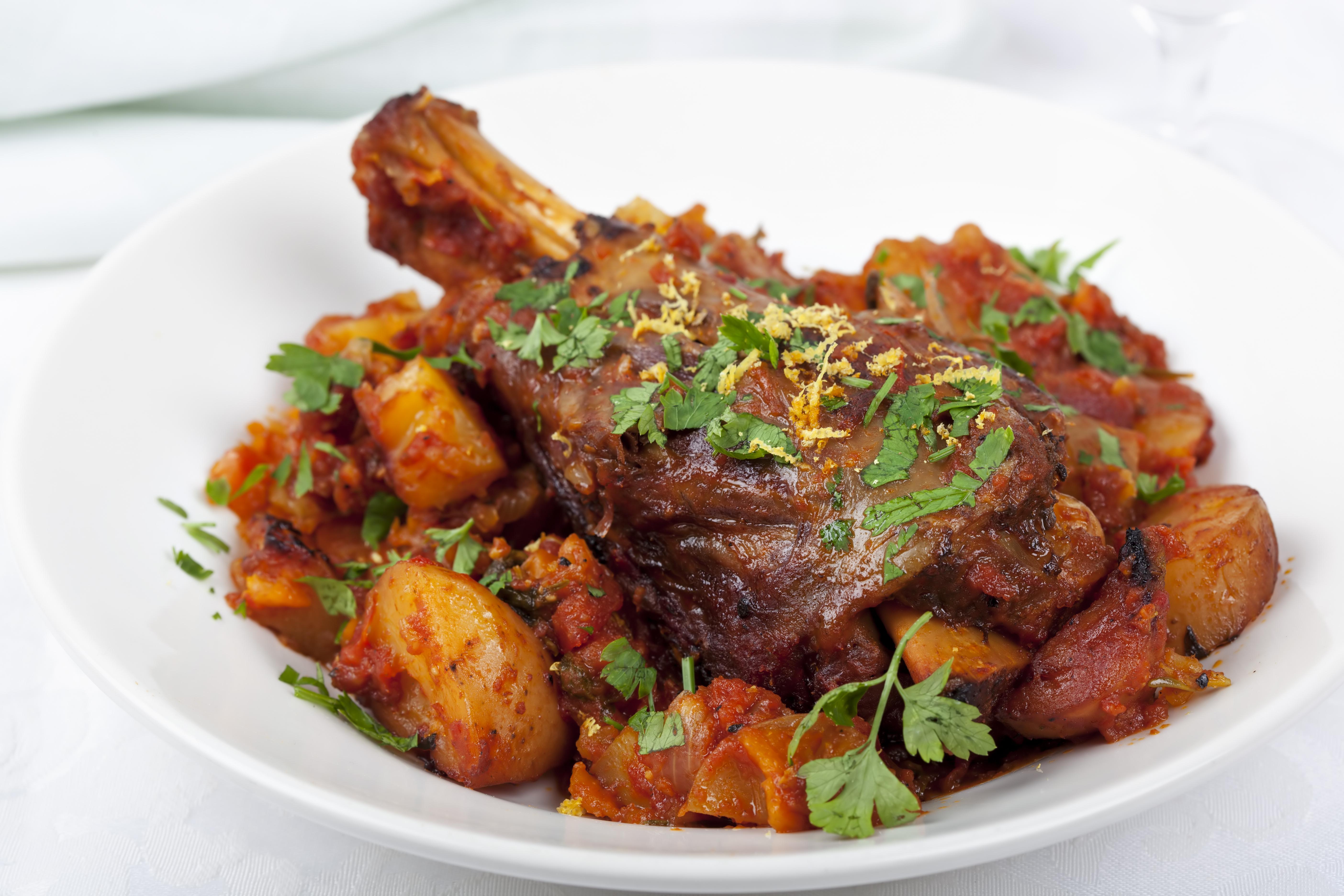 Recipe For Greek Style Lamb Shanks