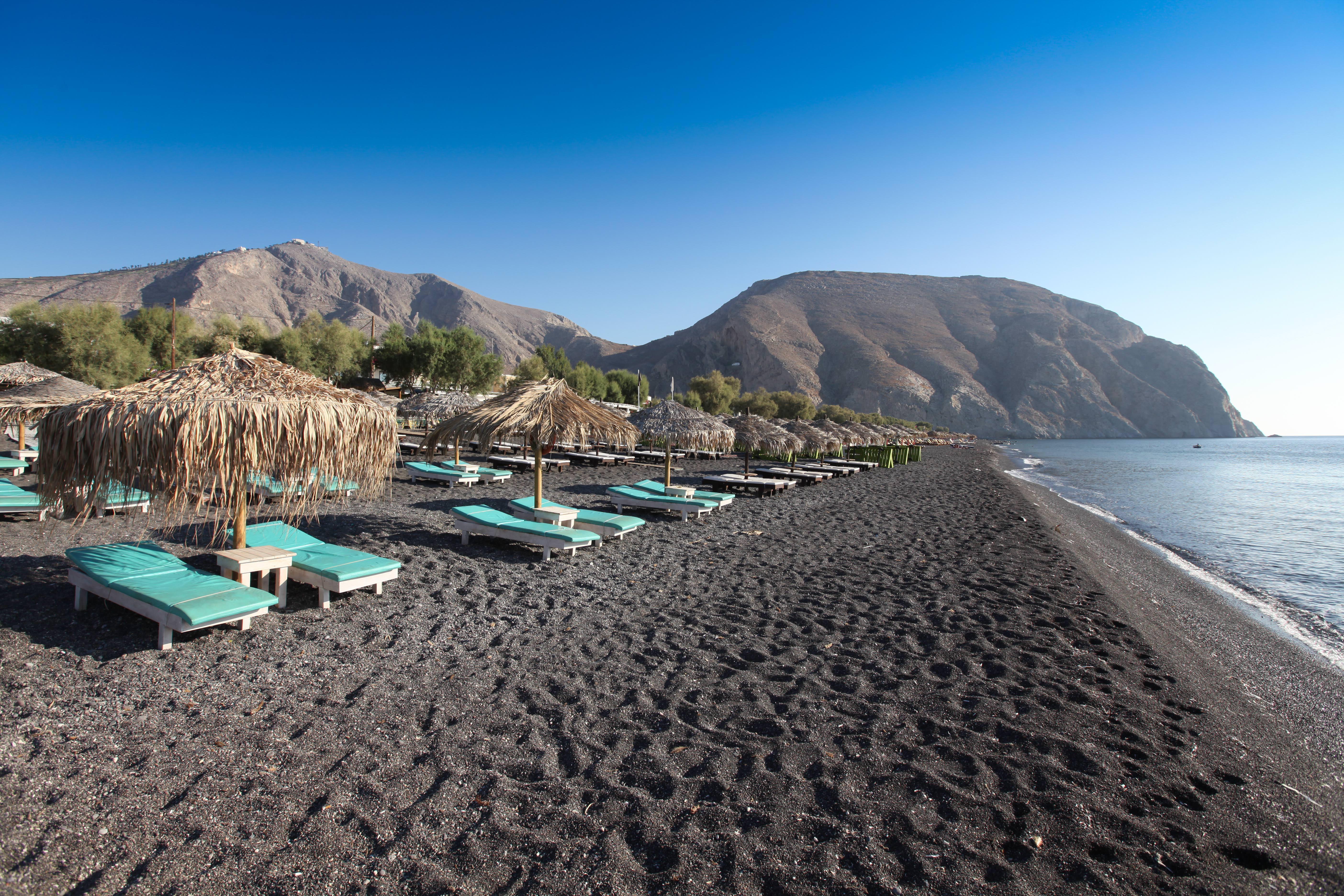 Santorini beach retro pics 19