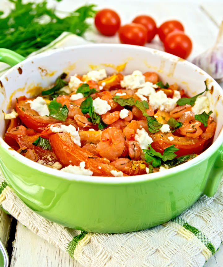 Recipe for Greek Style Shrimp With Tomatoes and Feta