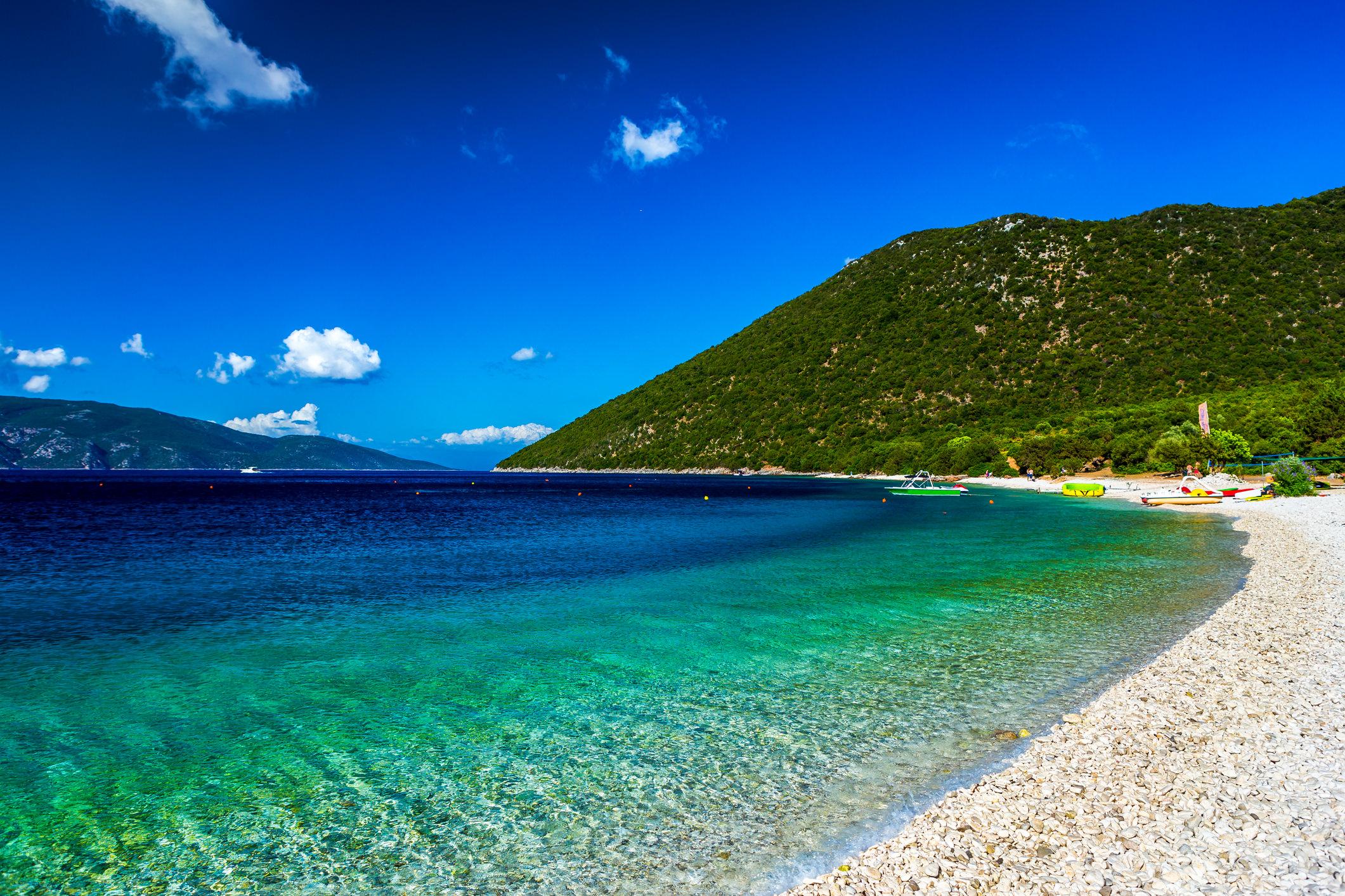 Lounge at Antisamos Beach in Kefalonia