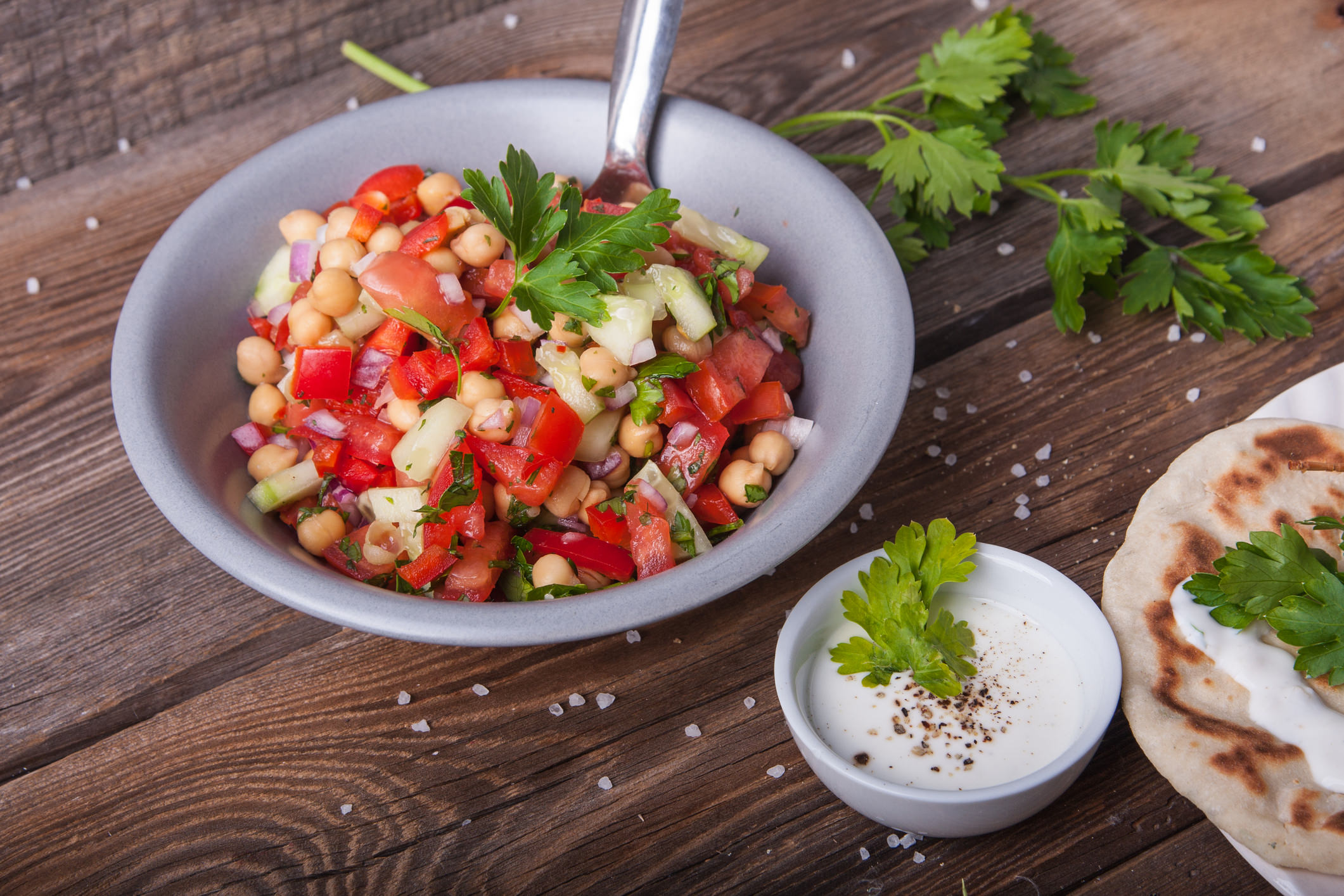 Recipe for Greek Style Chickpea Salad